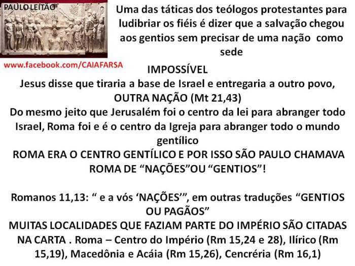 Salvação veio pelos judeos deopois pelos romanos